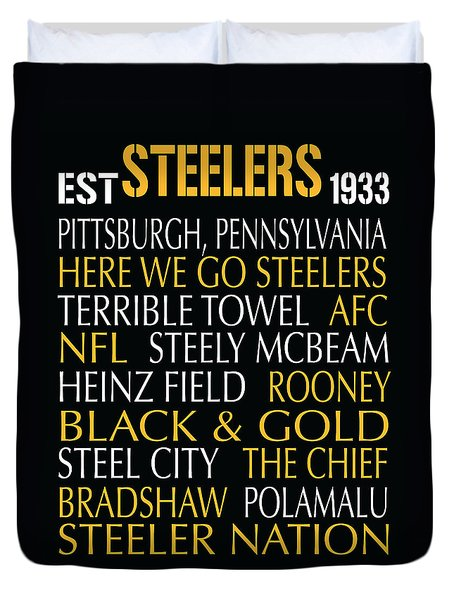 Pittsburgh Steelers Duvet Cover