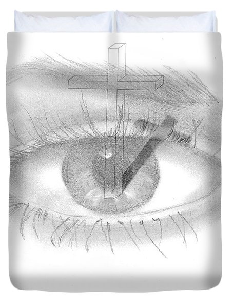 Plank In Eye Duvet Cover