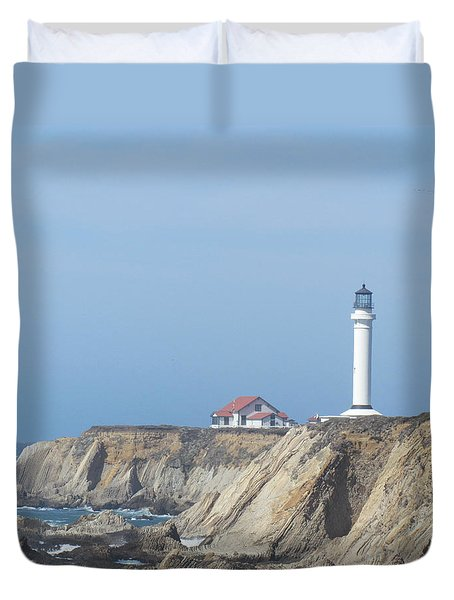 Duvet Cover featuring the photograph Point Arena Lighthouse by Bonnie Muir