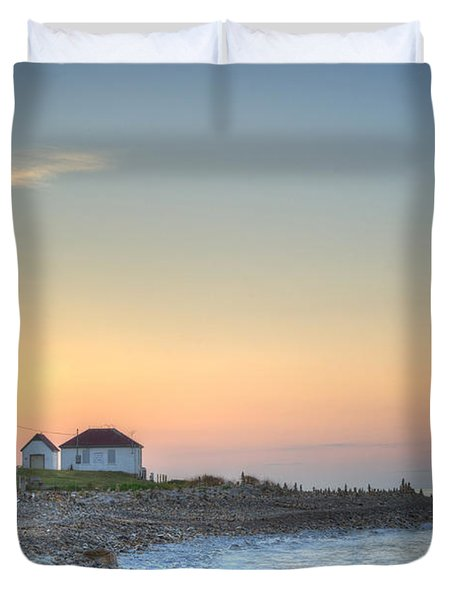 Point Judith Lighthouse Duvet Cover