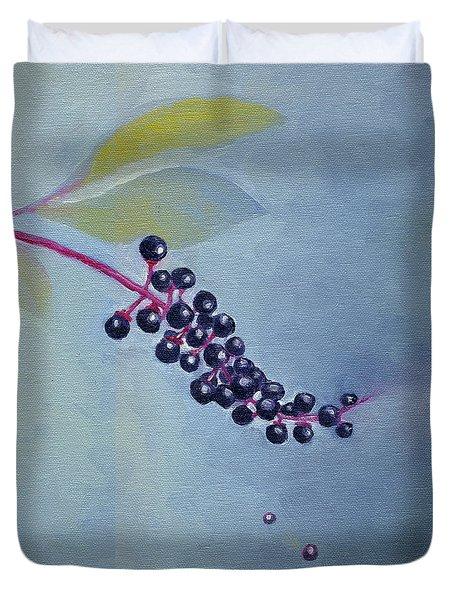 Pokeberries Duvet Cover
