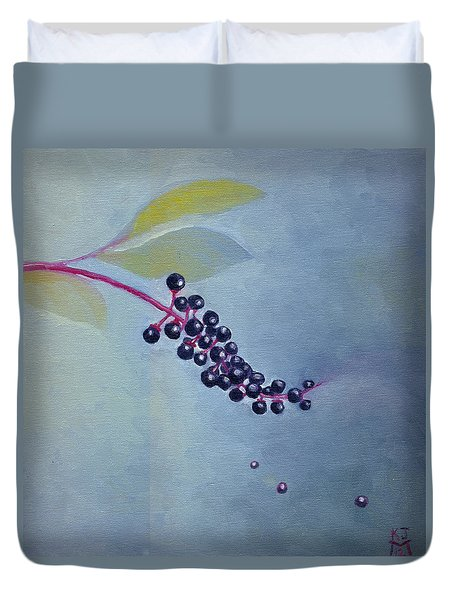 Pokeberries Duvet Cover