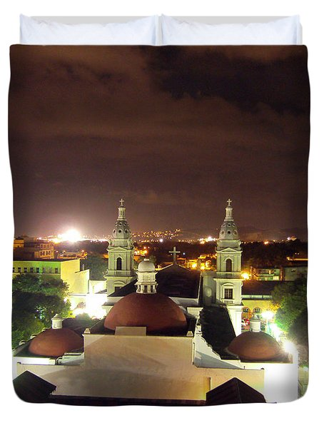 Ponce Cathedral Duvet Cover