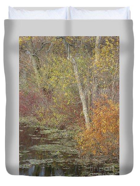 Pondside Pastel Duvet Cover by Ann Horn