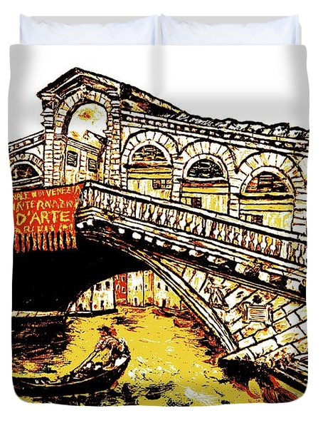 An Iconic Bridge Duvet Cover by Loredana Messina