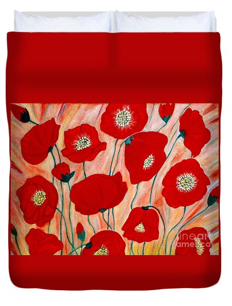 Poppies. Inspirations Collection. Duvet Cover