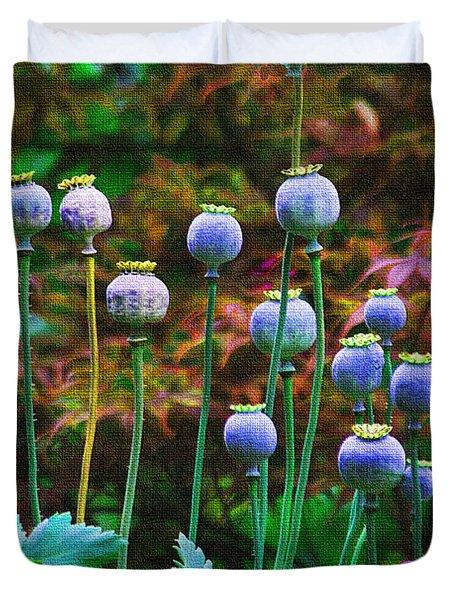 Poppy Seed Pods Duvet Cover