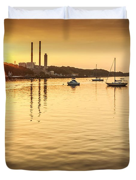 Port Jefferson Duvet Cover by Mihai Andritoiu
