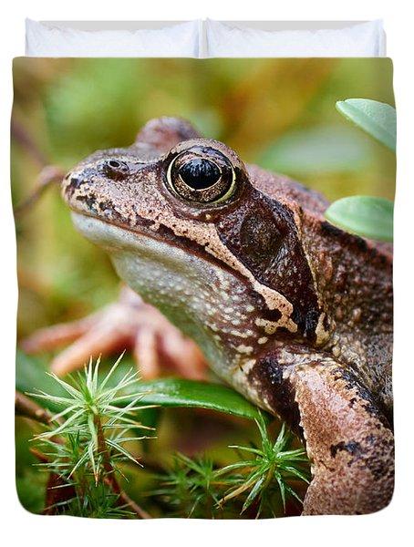 Portrait Of A Frog Duvet Cover by Jouko Lehto