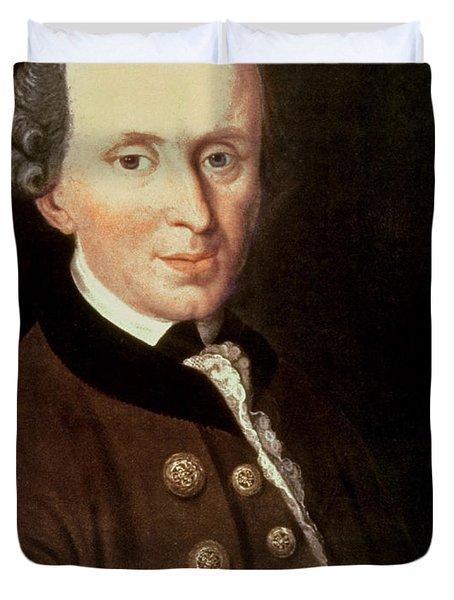 Portrait Of Emmanuel Kant Duvet Cover