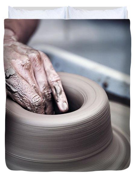 Pottery Wheel Duvet Cover