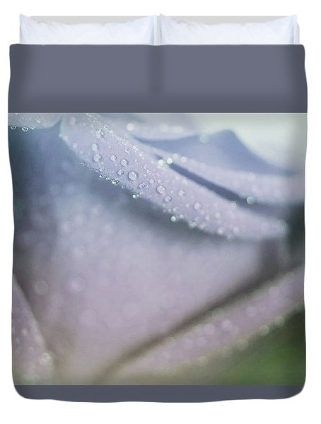 Powdery Blue Rose Duvet Cover