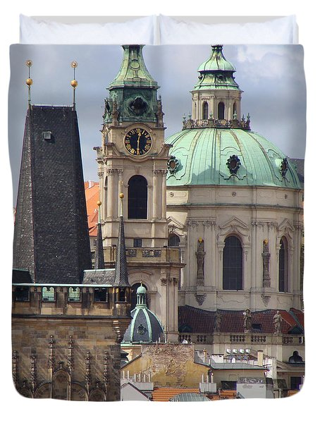Duvet Cover featuring the photograph Prague by Ira Shander