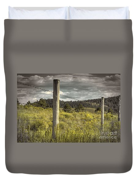 Prairie Fence Duvet Cover