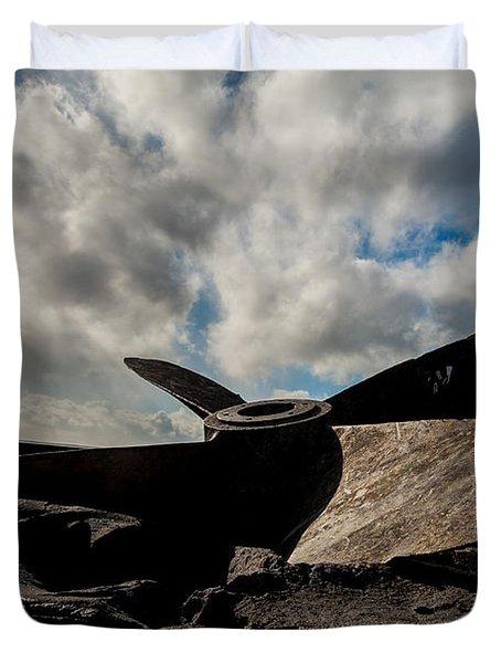 Propeller On The Beach Duvet Cover