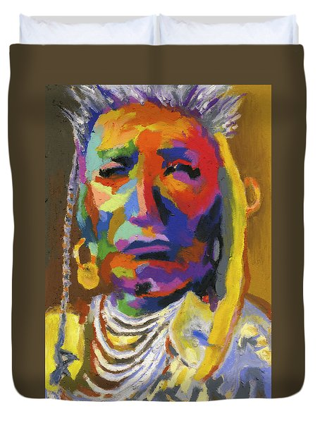 Proud Native American II Duvet Cover