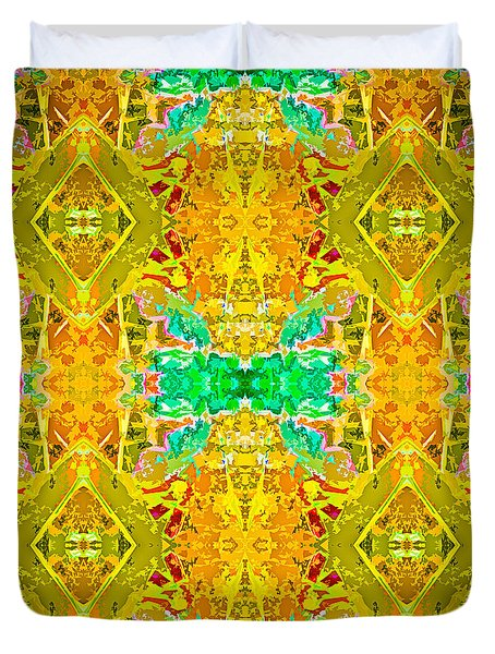 Duvet Cover featuring the photograph Psychedelic Diamond by  Onyonet  Photo Studios