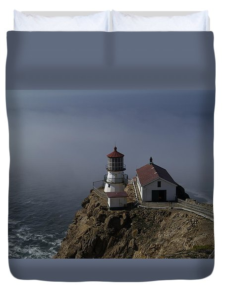 Pt Reyes Lighthouse Duvet Cover by Bill Gallagher