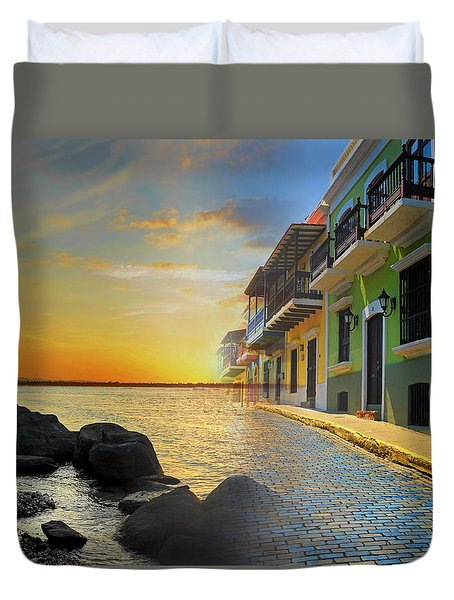 Duvet Cover featuring the photograph Puerto Rico Collage 4 by Stephen Anderson