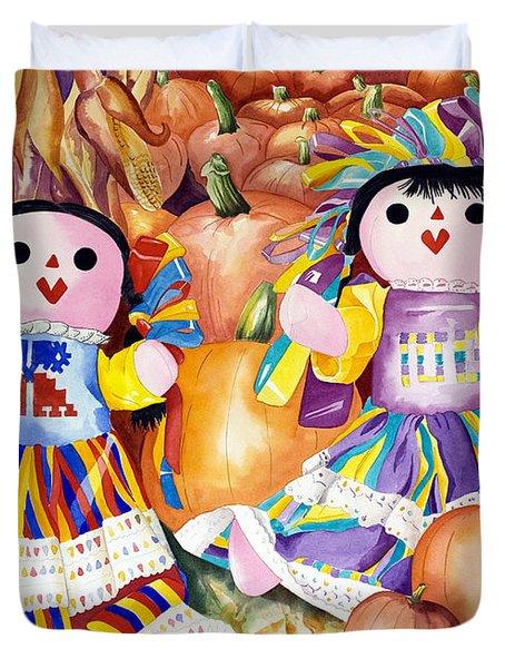 Pumpkin Patch Party Duvet Cover