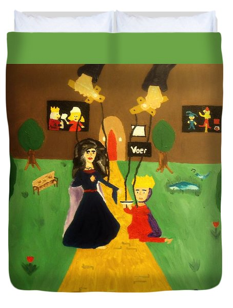 Puppets Duvet Cover by Bamhs Blair