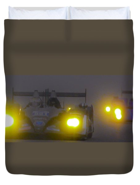 Rain Racers Duvet Cover by Michael Nowotny