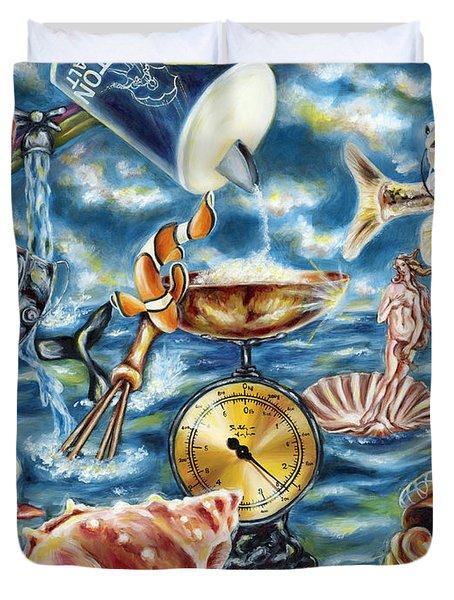 Duvet Cover featuring the painting Recipe Of Ocean by Hiroko Sakai