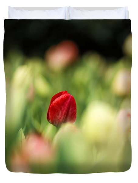 RED Duvet Cover by Darren Fisher