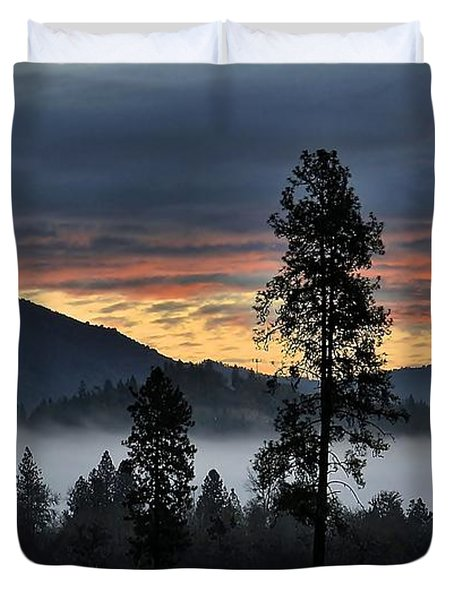 Duvet Cover featuring the photograph Red Dawn by Julia Hassett