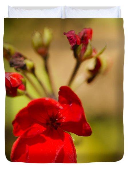 Red Flower Duvet Cover