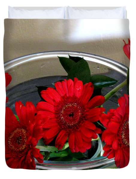 Red Flowers. Special Duvet Cover