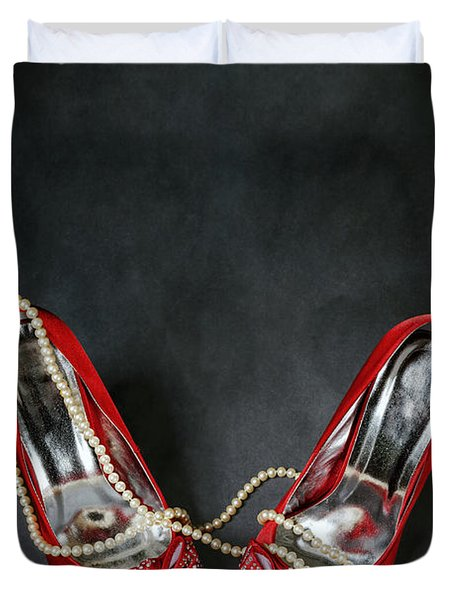Red Shoes Duvet Cover by Joana Kruse