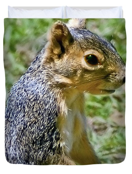 Red Squirrel Duvet Cover by Bob and Nadine Johnston