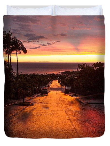 Sunset After Rain Duvet Cover
