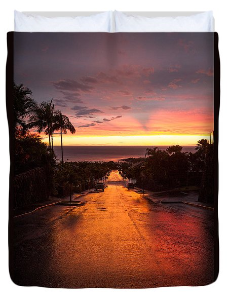 Sunset After Rain Duvet Cover