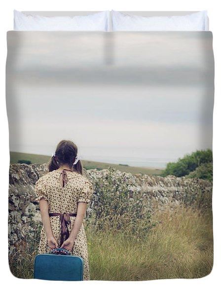 Refugee Girl Duvet Cover by Joana Kruse