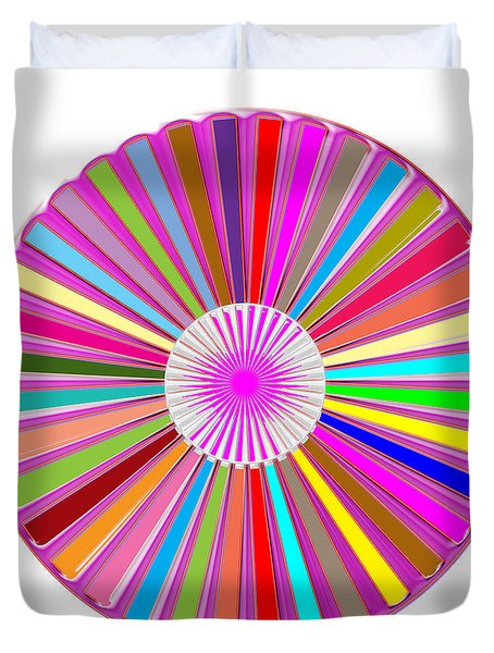 Colorful Signature Art Chakra Round Mandala By Navinjoshi At Fineartamerica.com Rare Fineart Images  Duvet Cover by Navin Joshi