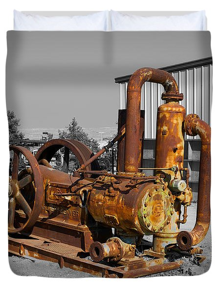 Retired Petroleum Pump Duvet Cover