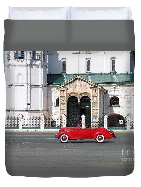 Retro Car Duvet Cover by Evgeny Pisarev
