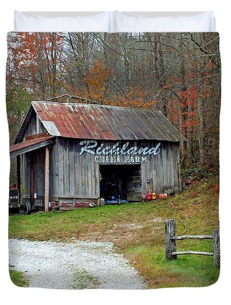 Richland Creek Farm Barn Duvet Cover