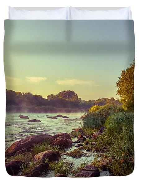 River Stones Duvet Cover