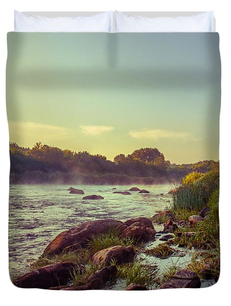 River Stones Duvet Cover by Dmytro Korol