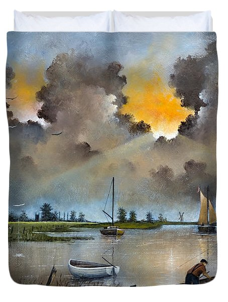 River Yare On The Broads Duvet Cover