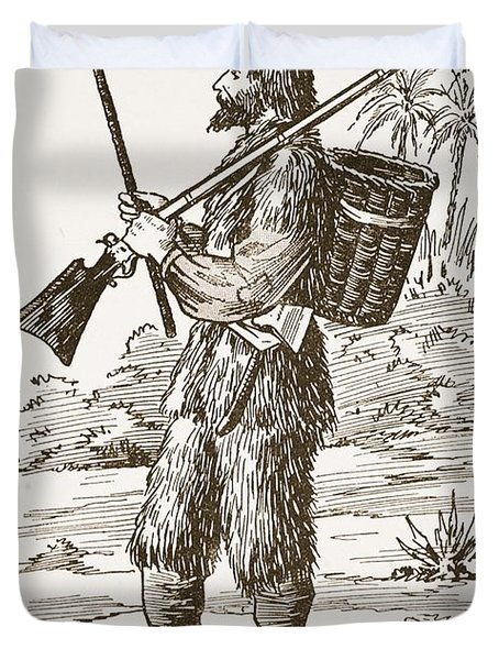 Robinson Crusoe, Illustration From The Duvet Cover