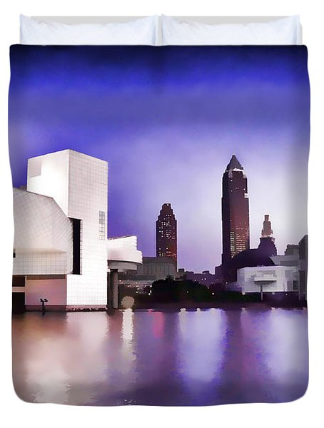 Duvet Cover featuring the photograph Rock And Roll Hall Of Fame - Cleveland Ohio - 3 by Mark Madere