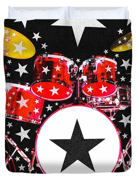 Rock Star In Red Duvet Cover