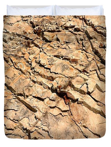 Duvet Cover featuring the photograph Rock Wall by Henrik Lehnerer