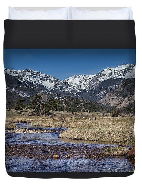 Rocky Mountain Stream Duvet Cover