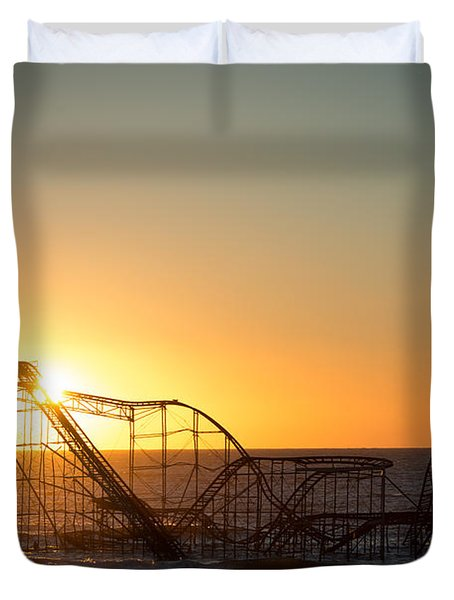 Roller Coaster Sunrise Duvet Cover
