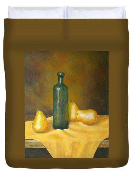 Roman Table Duvet Cover by Pamela Allegretto